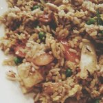 Sy's pineapple fried rice with halal chicken.
