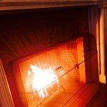 Real fire in our San Souci Suite. Each night the crew built a fire for us. You must request the