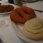 Fried bread(brown) and steamed bread