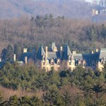 Telephoto lens view of Biltmore House from Room 642