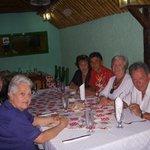 Restaurante con la familia Carballo