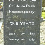 Close-up of  W. B. Yeats grave