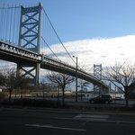 Ben Franklin Bridge ground level