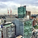 View of the Oracle building and downtown Tokyo from 21st floor room.