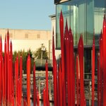 Chihuly in RED outside
