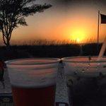 Perfect sunset, perfect mojito.