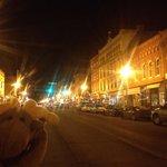 Main Street Penn Yan at night