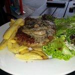 Steak and mushroom sauce