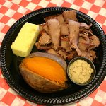 Brisket Plate with sweet potato