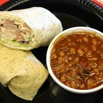 Turkey Wrap with signature baked beans