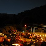Night shot of our private, KRO guest only camp.