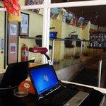 bar with internet shop