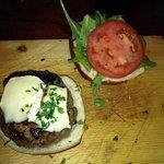 the elk burger!!