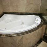 Awesome Jacuzzi tub in the suite bathroom.  Great bubbles with the body wash.