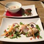 Mushroom soup with Shrimp entree