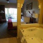 whirlpool bath & bedroom w/ bathroom behind me, not shown