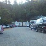 RV Camping area and view of 2 bedroom Cabins