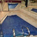 personal pool-spacious! (sauna behind door)