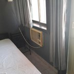 Aircon unit in the room.