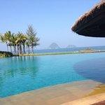 The infinity pool and stunning views beyong
