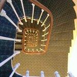 L'escalier vu du 6e étage