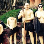 Wookey Hole cave men family