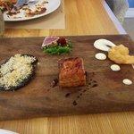 Tasting platter (pork belly to overdone)