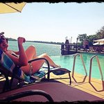 lazing at the pool at David Livingstone lodge