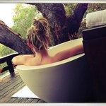 bath with a view at the Royal Chundu island lodge - awesome!
