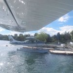 just about to take off in the floatplane!