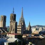 Blick in das Gotische Viertel von der Dachterrasse aus