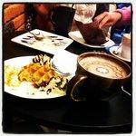 Chocolat chaud et gaufre