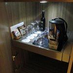 Coffee and tea making facilities, with mini bar