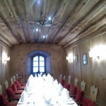 Europa Stuberl restaurant typical tyrolean dining room