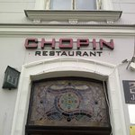 Exterior of Chopin Restaurant from the square