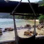 Vista desde el quincho hacia la playa