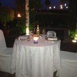 cena nel giardino