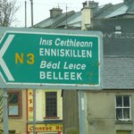 Sign to Belleek Pottery & Visitor Centre