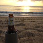 beer o'clock on  the beach