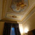 soffitto della camera-armadio con affresco
