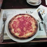 These are the pizzas you get. 13 CHF for a mini pizza wich doesnt taste too good. (The Restauran