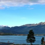 View of the Dillon reservoir and front range mountains from the condo balcony