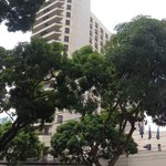 View of the Hilton from the Praca.