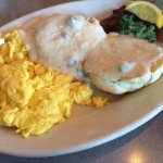 Biscuits gravy n eggs
