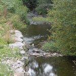 petit ruisseau engendré par le lac