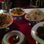 $35 dinner for two with seafood soup, duck, yang chow fried rice, shrimp with cashews and sweet
