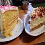 Not your average banoffee  and lemon cake, huge portions and gorgeous!!!!!