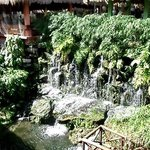 Waterfall by the buffet