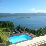 View over Knysna lagoon from our balcony