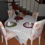 Il tavolo per la colazione